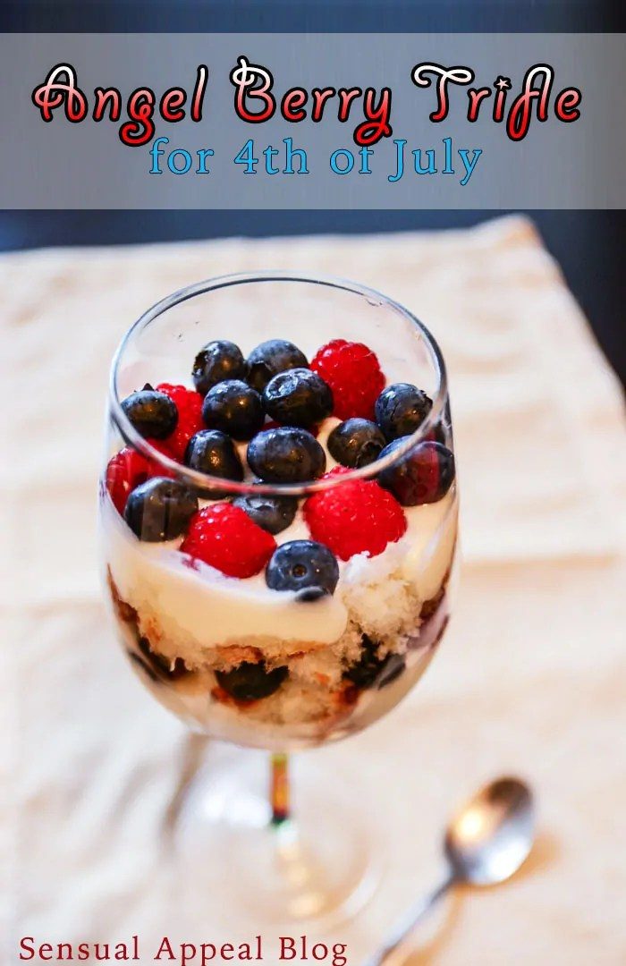 Angel Cake Berry Trifle for 4th of July #MyMarianos #shop #Cbias