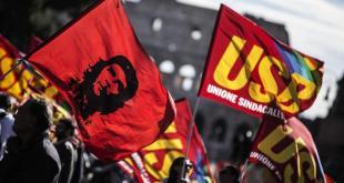 Scioperi: al via corteo a Roma, striscioni contro Renzi