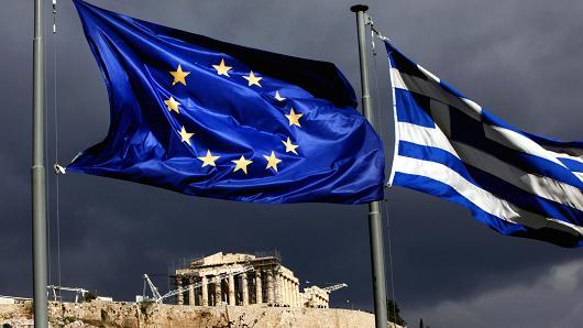 100977018-Greek, EU  flag Acropolis.530x298