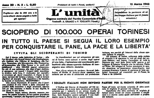L'Unità clandestina del 15 marzo '43