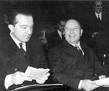 Mario Scelba con un giovane Andreotti
