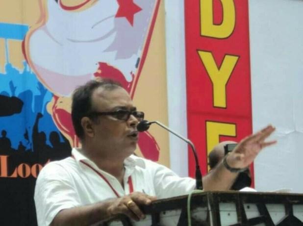 Abhoy Mukherjee, Segretario Generale della DYFI