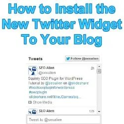 How to Add Your Twitter RSS Feed to Your Blog