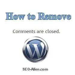 How to Remove Comments Are Closed in WordPress - Flexsqueeze Theme