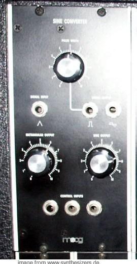 moog modular synthesizer system sine converter