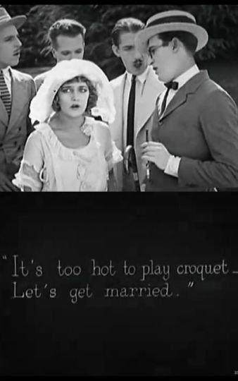 "Intertitle from ""A Sailor Made Man"" (1921) starring Harold Lloyd and Mildred Davis. Lloyd married Davis soon after."