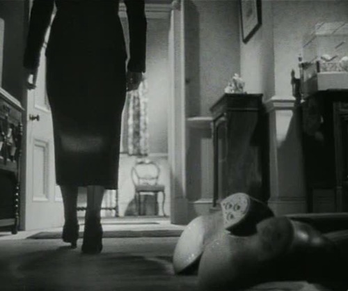 Still from Alfred Hitchcock's brilliant 1936 film, Sabotage, with Sylvia Sidney and Oscar Homolka.