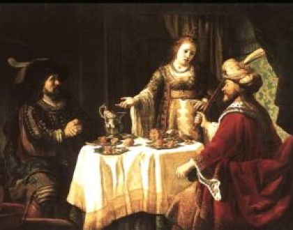 Esther's banquet by Jan Victors, 1640.
