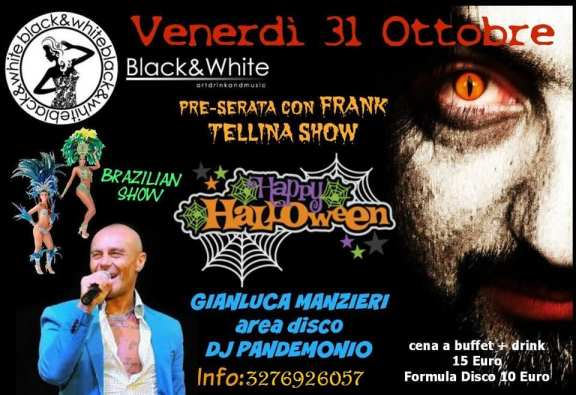 black e white  halloween