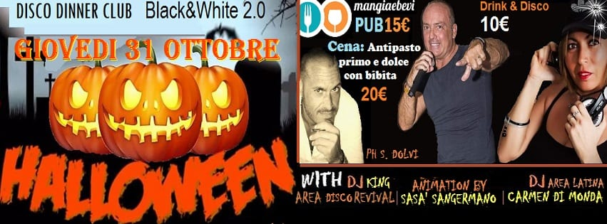 Black e White Pozzuoli - Sabato Giovedi 31 Halloween Party