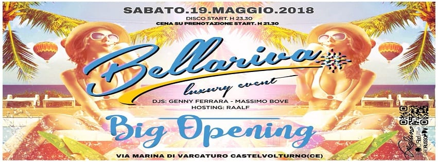Lido Bellariva Varcaturo - Sabato 19 Opening Summer