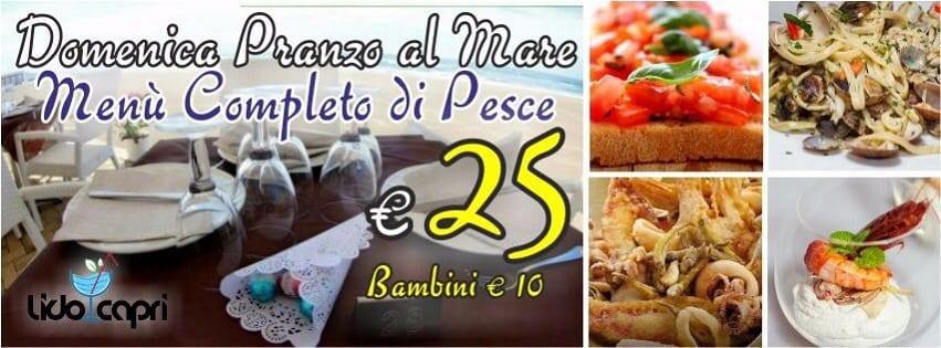 Ristorante Capri Pozzuoli - Domenica 23 ottobre a Pranzo