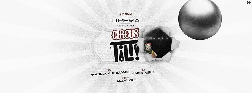 Opera Pozzuoli - Sabato 27 Gennaio Circus Party