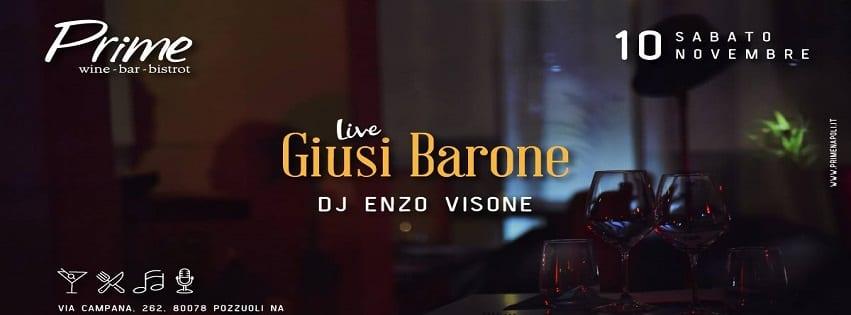 PRIME Pozzuoli - Sabato 10 Novembre Live Music e Dj Set