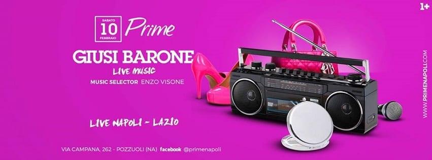 PRIME Pozzuoli - Sabato 10 Diretta Napoli, Live Music e Dj Set