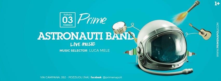 PRIME Pozzuoli - Sabato 3 Febbraio Live Music e Dj Set