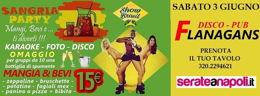 Flanagans Aversa - Sabato 3 Brasil show Karaoke e Disco