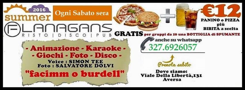 Flanagans Aversa - Ogni Sabato Live show Karaoke e Disco