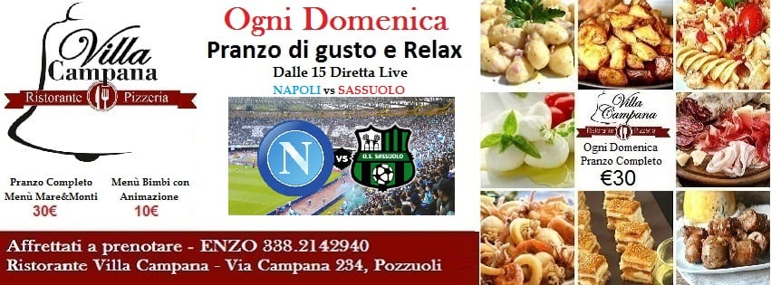 Villa Campana Pozzuoli - Domenica 29 Pranzo con gusto e Relax