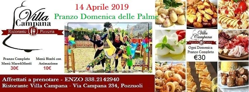 Ristorante Villa Campana Pozzuoli - Pranzo Domenica delle Palme