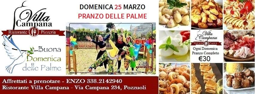 Villa Campana Pozzuoli - Pranzo Domenica delle Palme