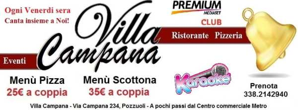 Villa Campana Pozzuoli - Ogni venerdi sera