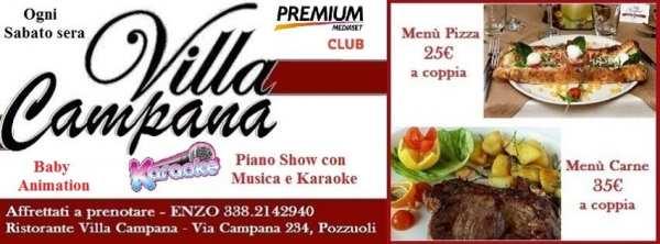 Villa Campana Pozzuoli - Sabato sera