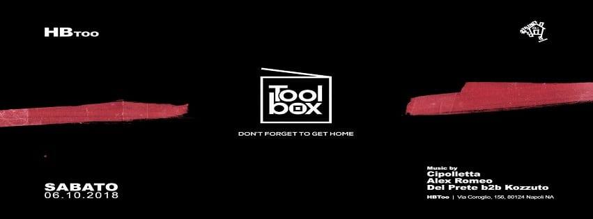 HBTOO Napoli - Ogni Sabato sera ToolBox Exclusive Party
