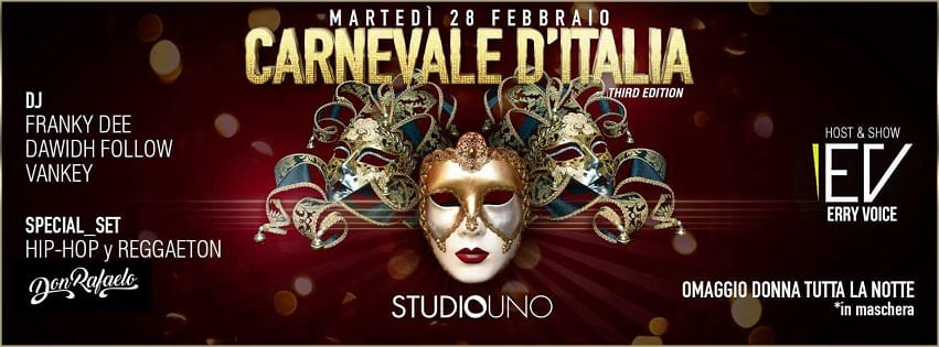 Studio Uno Caserta - Martedi 28 Feb Carnival party