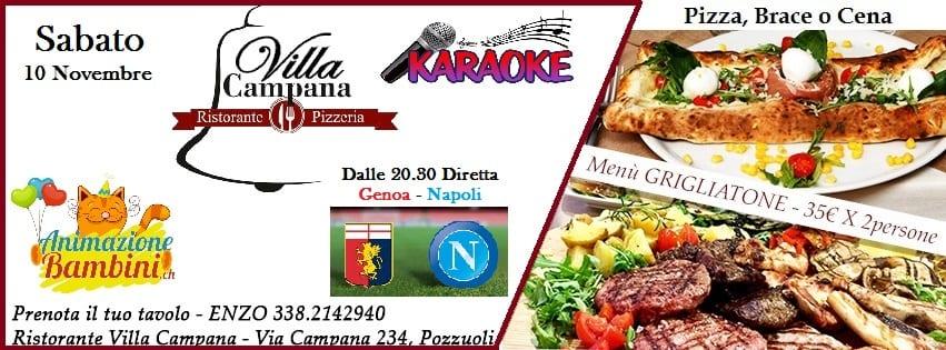 Villa CAMPANA Pozzuoli -Sabato 10 Diretta Napoli e Karaoke