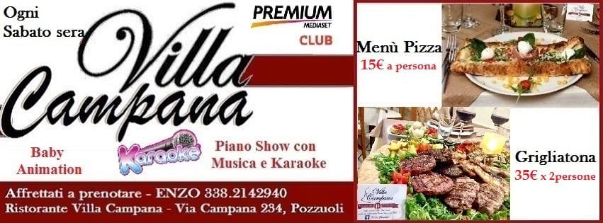 Villa Campana Pozzuoli - Sabato 28 Pizza Brace e Karaoke