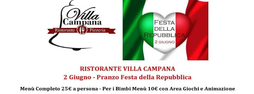 Villa Campana Pozzuoli - Sabato Pranzo Festa della Repubblica
