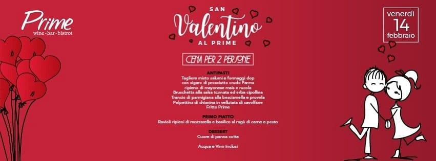 PRIME Pozzuoli -  Venerdì 14 Cena di San Valentino