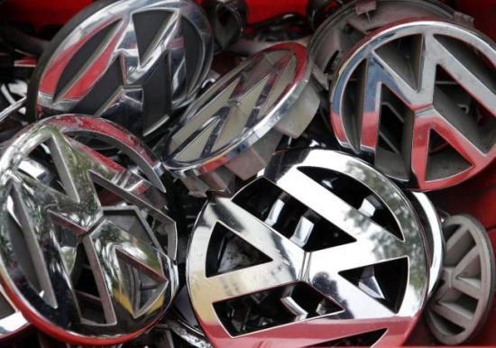 Marchio VW accatastati