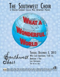 HCCSW Holiday Concert Poster