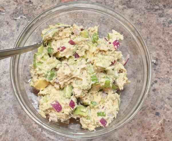 From scratch Tuna Salad with Avocado and fresh homemade Mayo