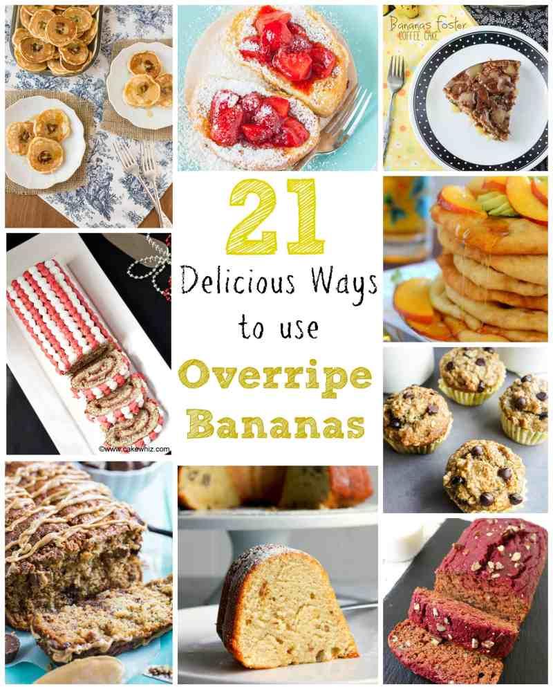 21 Delicious Ways to use Overripe Bananas
