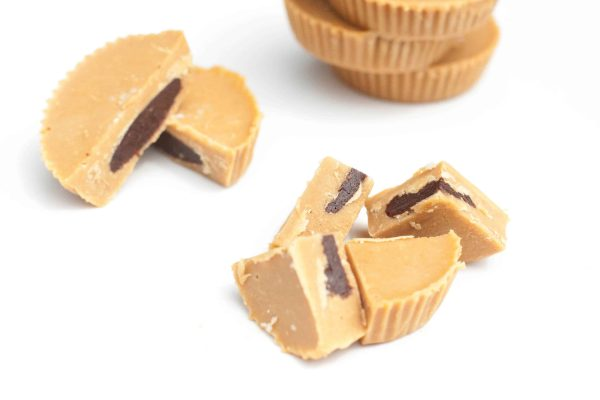 Inside Out Peanut Butter cups with homemade peanut butter that's vegan friendly!