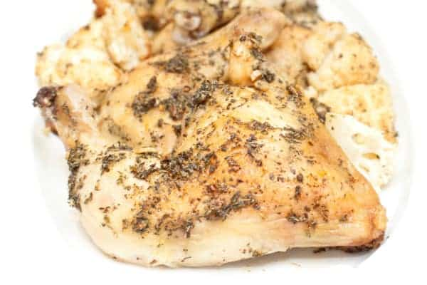 Easy Herbed Chicken Legs- the perfectly low maintenance but delicious weeknight meal