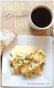 The PERFECT soft scrambled eggs with parmesan and basil