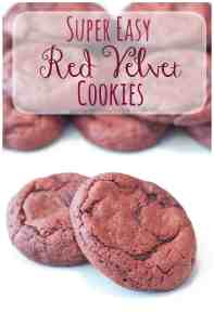 Super easy, super soft Red Velvet Cookies From Scratch