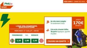 Bonus PMU jusqu'à 170€ offerts pour jouer au TURF ou aux paris sportifs