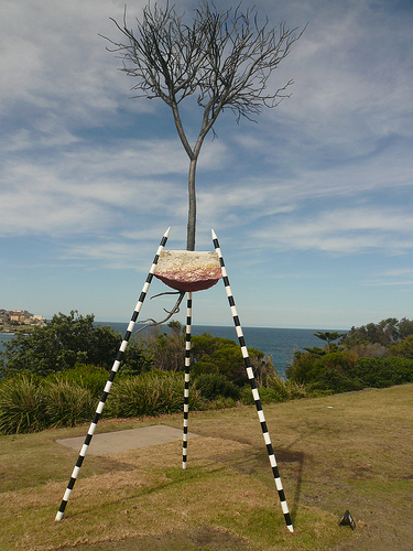 blog voyage australie whv travel bondi sculpture sea tree art