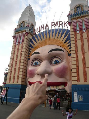 Luna park et Musée d'art contemporain