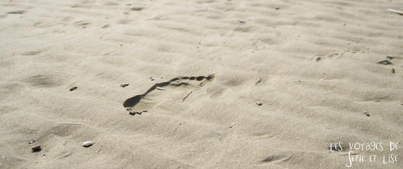 blog voyage touquet france trace pas sable