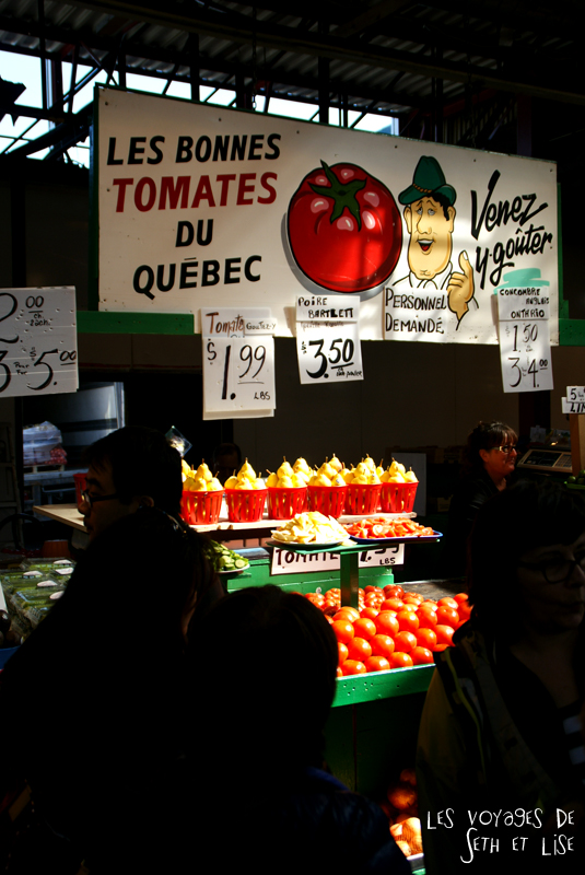 blog pvt canada montreal pvtistes couple tour du monde voyage tomate quebec petite italie marché jean talon