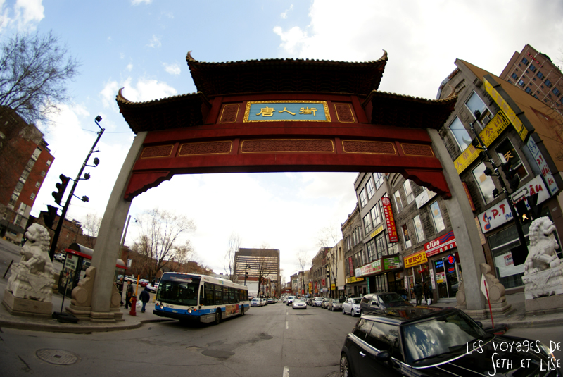 blog voyage canada pvt montreal porte chinatown fisheye