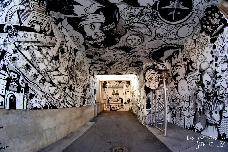 blog pvt canada montreal pvtistes couple tour du monde voyage street art noir blanc st laurent