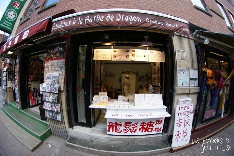 blog pvt canada montreal tour du monde voyage couple bonbon boutique chinatown barbe dragon