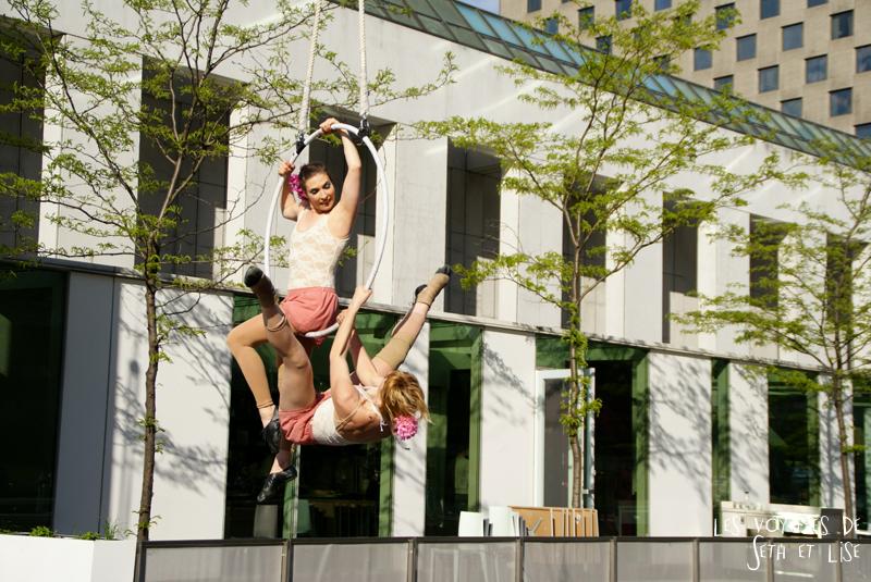 blog pvt canada voyage canada montreal voyage tour du monde fete artiste cerceau acrobaties